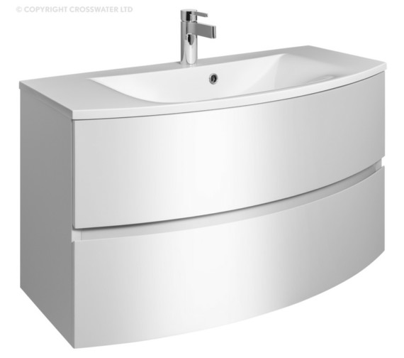 Bauhaus Svelte 1000mm White Gloss Wall Hung Vanity Unit And Basin