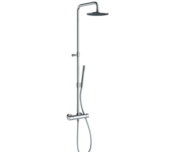 Abode Euphoria Circular Thermostatic Valve With Rigid Riser Shower Kit