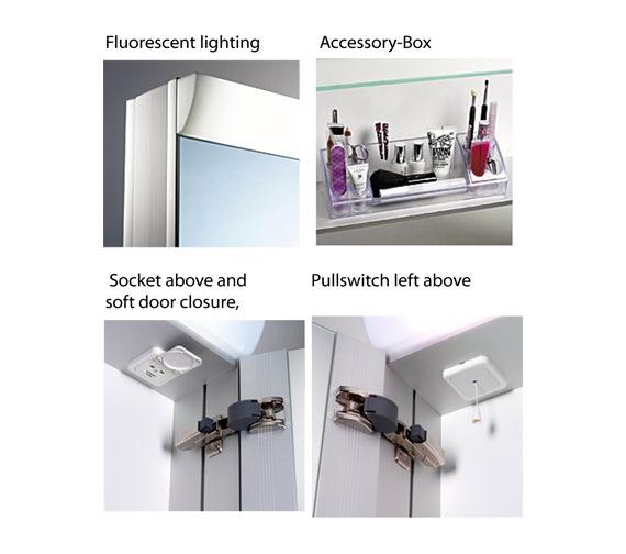 Additional image of Schneider Wangaline 2 Door Mirror Cabinet 750mm