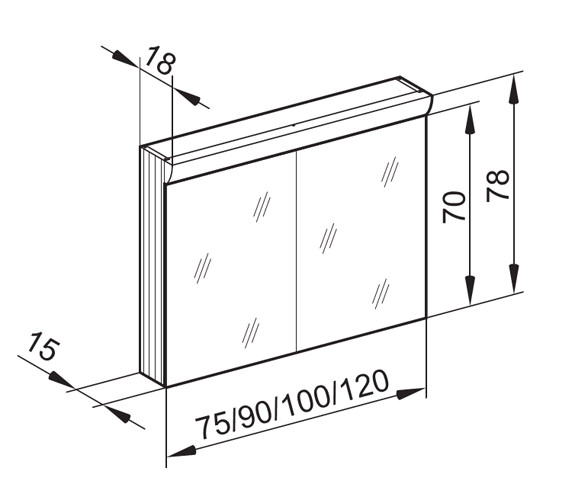 Technical drawing QS-V16628 / WLS 90/2/FL