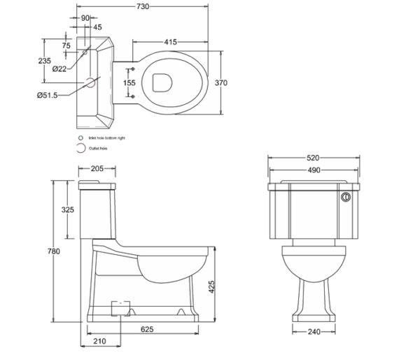 Technical drawing QS-V13488 / P18