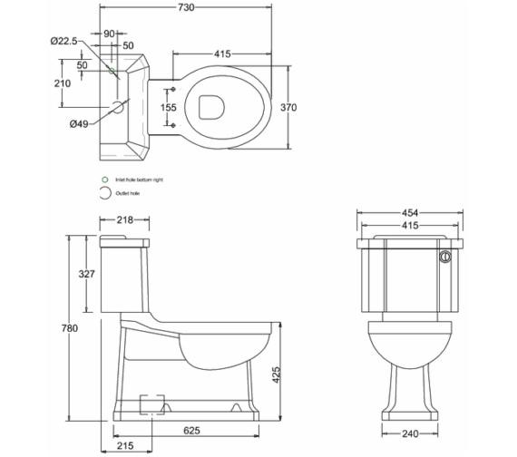 Technical drawing QS-V13489 / P18