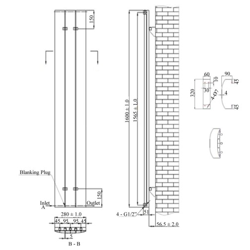 Technical drawing QS-V6635 / RA251