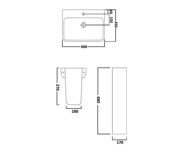 Technical drawing QS-V16512 / SB356S