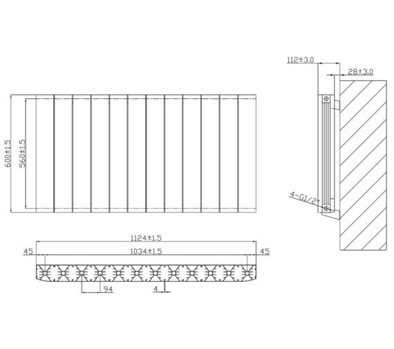 Technical drawing QS-V6625 / RA233