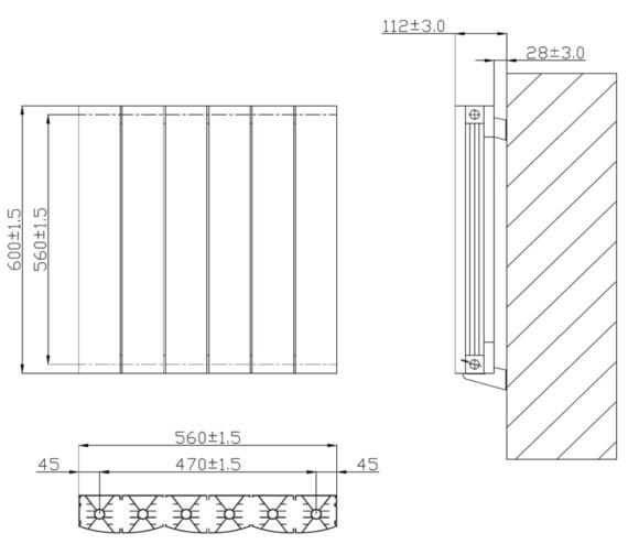 Technical drawing QS-V6628 / RA240