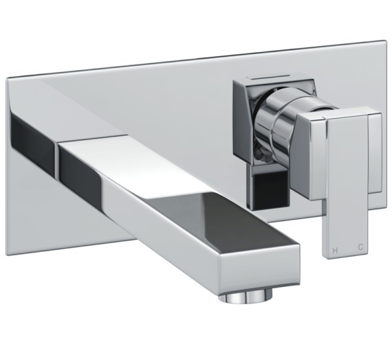 Abode Iso Wall Mounted Basin Mixer Tap