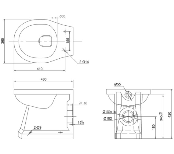 Technical drawing QS-V13487 / P14