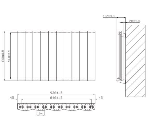 Technical drawing QS-V6631 / RA246