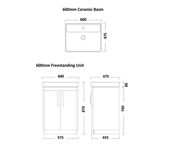 Technical drawing QS-V16521 / CM600FC