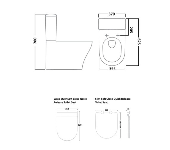 Technical drawing QS-V16515 / P350S