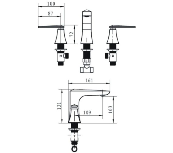Technical drawing QS-V72665 / THPC06