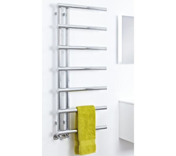 Phoenix Level 500 x 1200mm Designer Radiator Chrome