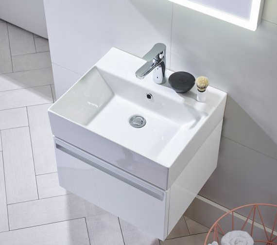 Additional image of Tavistock Forum 500mm Wall Hung Vanity Unit And Basin