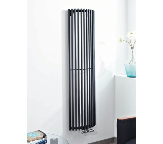 Phoenix Curve 444 x 1600mm Anthracite Carbon Steel Radiator