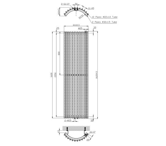 Technical drawing QS-V6609 / RA175