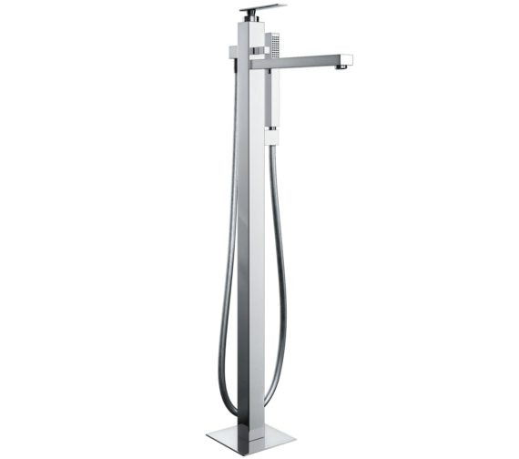 Abode Marino Floor Standing Bath Filler Tap With Shower Handset