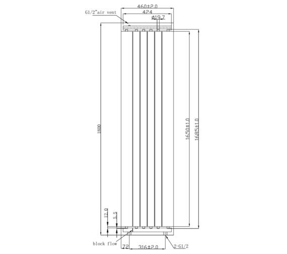 Technical drawing QS-V6611 / RA275