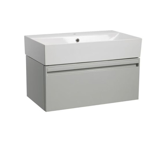 Tavistock Forum 700mm Wall Hung Vanity Unit And Basin Grey