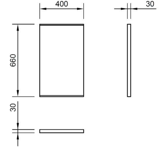 Technical drawing QS-V72299 / LU4066DIM