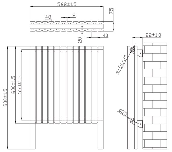Technical drawing QS-V6642 / RA360