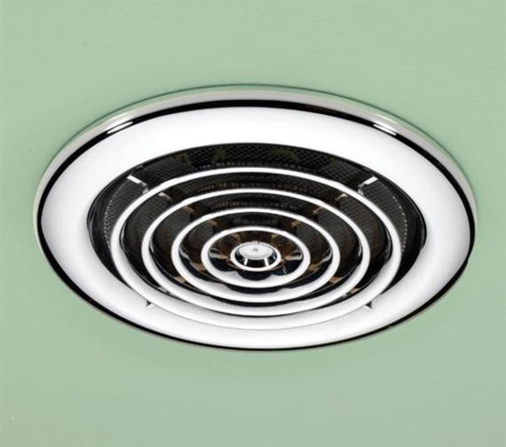 Alternate image of HIB Cyclone Wet Room Inline White Extractor Fan
