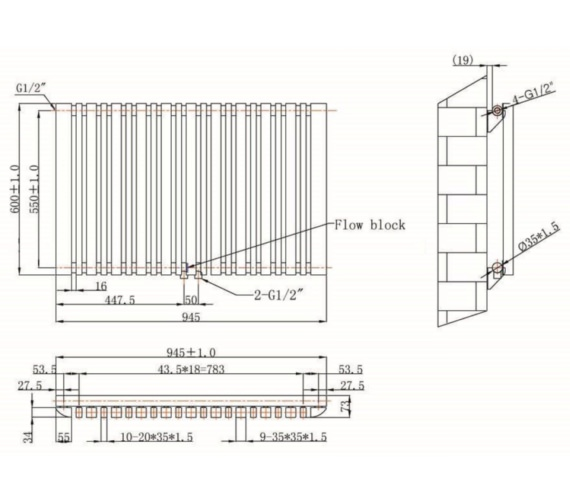 Technical drawing QS-V75915 / RA150