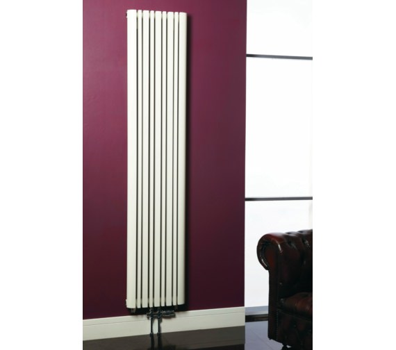 Phoenix Tower 423 x 1800mm Column Style Radiator White