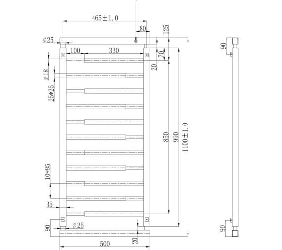 Technical drawing QS-V6639 / RA370