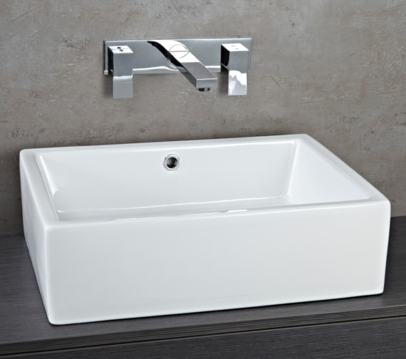 Phoenix 510mm x 360mm White High Gloss Counter Top Basin