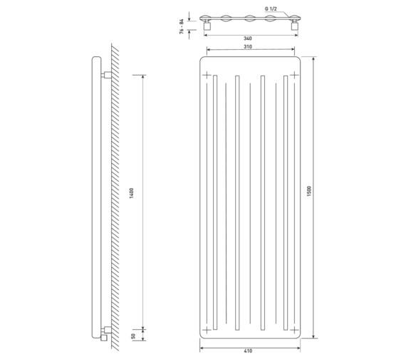 Technical drawing QS-V6637 / RA350