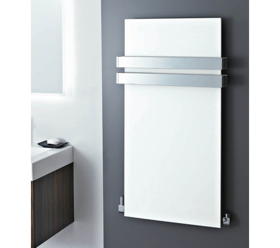 Phoenix Icon 508 x 907mm White Carbon Steel Radiator