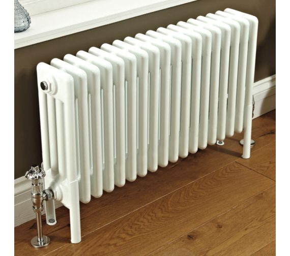 Phoenix Nicole 1190 x 400mm White 4 Column Radiator