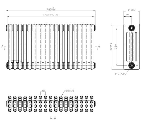 Technical drawing QS-V6646 / RA410