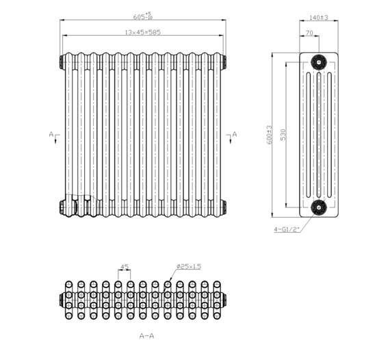 Technical drawing QS-V6649 / RA413