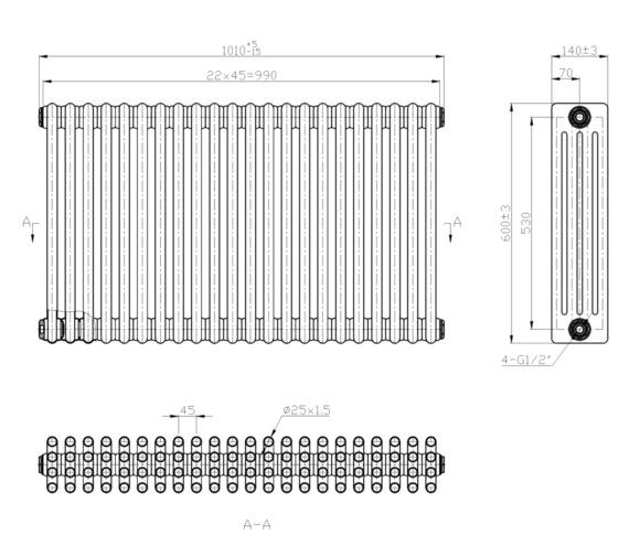 Technical drawing QS-V6651 / RA415