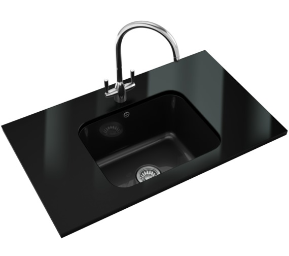 Franke V And B Designer Pack VBK 110 50 Ceramic Black Kitchen Sink And Tap