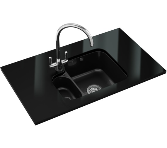 Franke V And B Designer Pack VBK 160 Ceramic Black Kitchen Sink And Tap