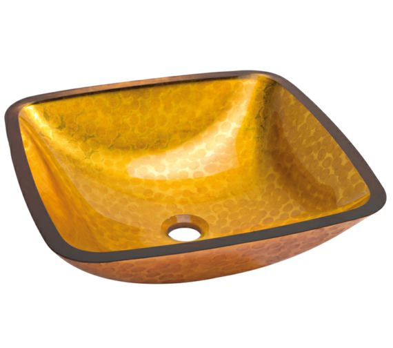 Beo Lavabo 425mm Square Countertop Orange Basin