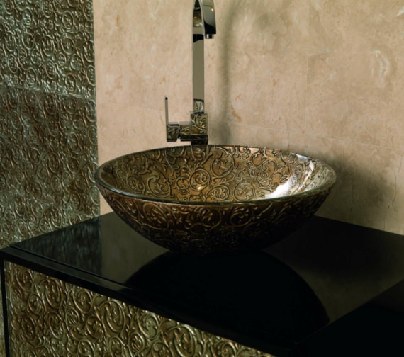Additional image of Beo Lavabo 420mm Round Copper Countertop Basin