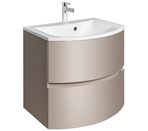Bauhaus Svelte 600mm Matt Coffee Wall Hung Vanity Unit And Basin