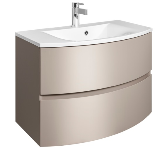 Bauhaus Svelte 800mm Matt Coffee Wall Hung Vanity Unit And Basin