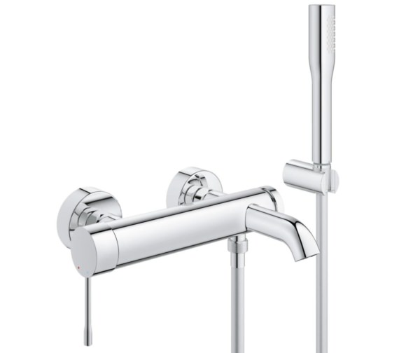 Grohe Essence New Wall Mount Bath Shower Mixer Tap With Kit