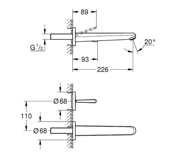 Technical drawing QS-V81768 / 19969000