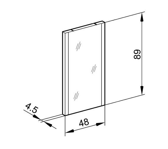 Technical drawing QS-V16670 / TRI/SL 48/FL/SD