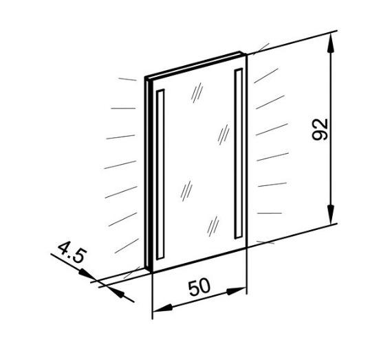Technical drawing QS-V16671 / TRI/SL 50/FL/SD
