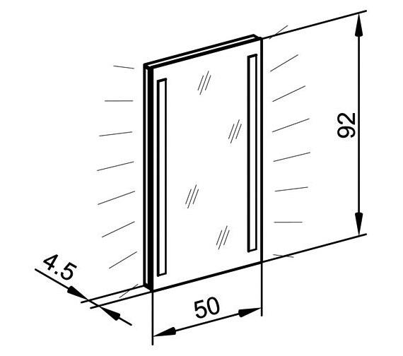 Technical drawing QS-V16661 / TRI/SL 50/FL