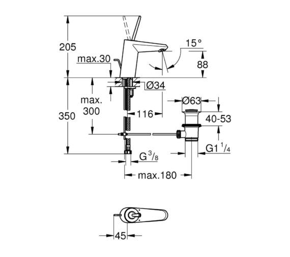 Technical drawing QS-V81773 / 23425LS0