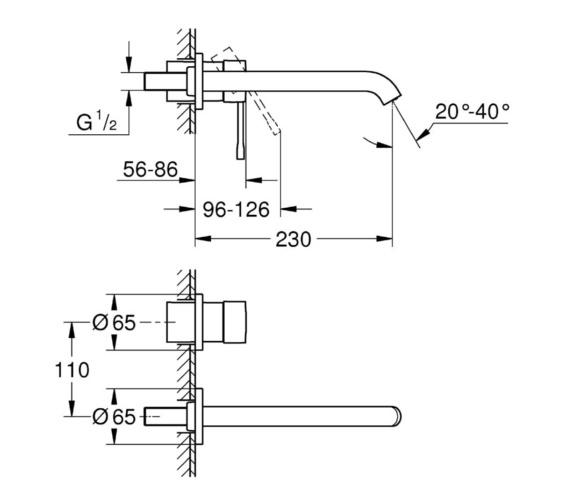 Technical drawing QS-V81760 / 19967001