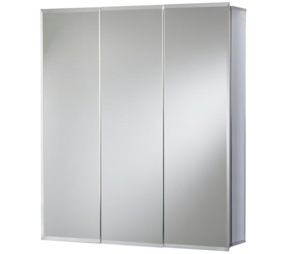 Croydex Grove Triple Door Tri-View Aluminium Cabinet - WC101769